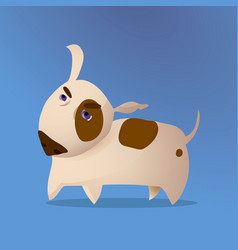 cartoon of bull terrier dog vector image