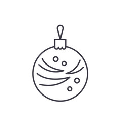 christmas winter ball line icon concept christmas vector image
