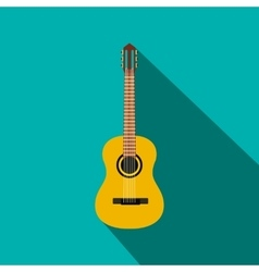 Classic guitar icon flat style vector