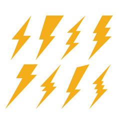 Creative of thunder and bolt vector