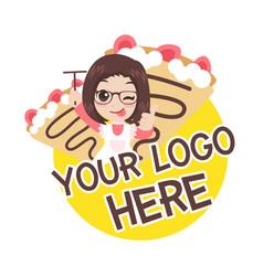 Crepe logo vector