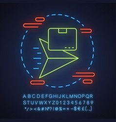 delivery waiting time neon light concept icon vector image