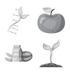 design of genetic and plant symbol set of vector image