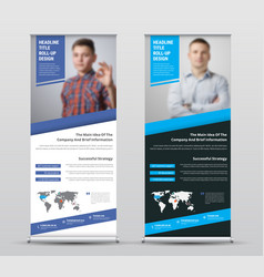 Design of universal white and black roll-up vector