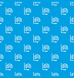 diving mask pattern seamless blue vector image