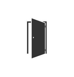 door icon flat vector image