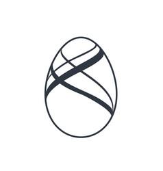 easter egg icon black egg sign isolated white vector image