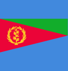 Flag in colors of eritrea image vector