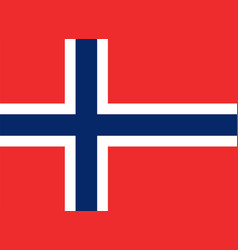flag of norway in official rate and colors vector image