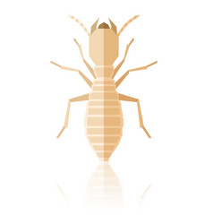 flat geometric termite vector image