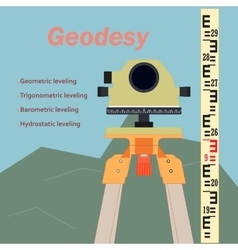 Geodesy-leveling and levelling rejka vector
