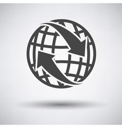 Globe with arrows icon vector image