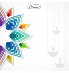 Happy diwali greeting vector