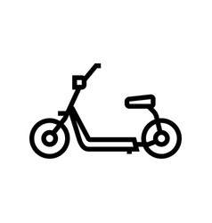 Hover cart line icon vector