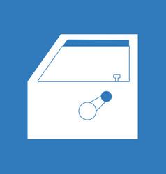 Icon car door vector