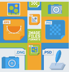 Image files formats banner vector