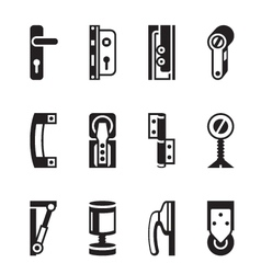 Interior and exterior fasteners vector