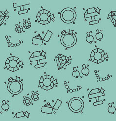 Jeweler icons pattern vector