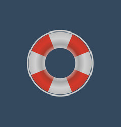 lifebuoy lifebelt icon vector image