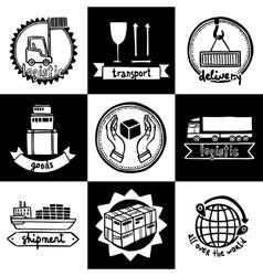 Logistic Emblems Set vector