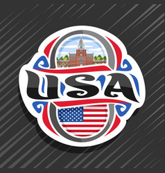 logo for usa vector image