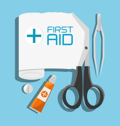 medical first aid tools treatment vector image