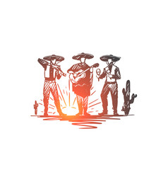 mexican sombrero cinco de mayo holiday concept vector image