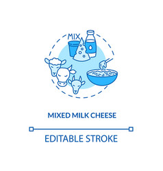 Mixed milk cheese turquoise concept icon vector