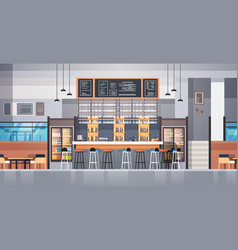 Modern cafe or restaurant interior with bar vector