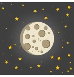 Moon with star sky vector