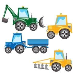 Much tractors vector