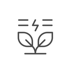 natural energy line outline icon vector image