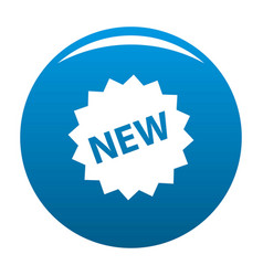 new sign icon blue vector image
