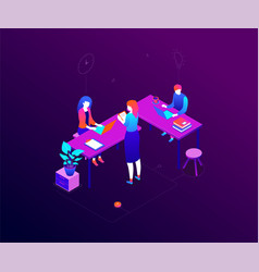 office life - modern colorful isometric vector image