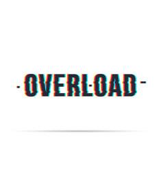 Overload date chromatic aberration vector
