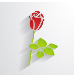 paper rose vector image