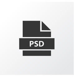 Psd icon symbol premium quality isolated vector