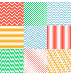 Seamless colorful patterns with fabric texture vector