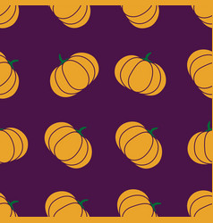 Seamless halloween pattern with pumkin endless vector