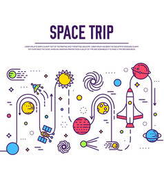 Set of huge space infographic universe vector