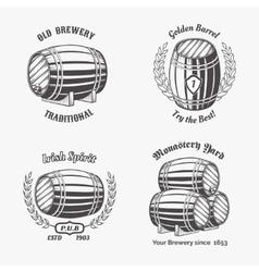 set vintage badge for beer house vector image