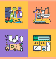 smart home system icons set vector image