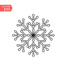 Snowflake icon flat in black on white background vector