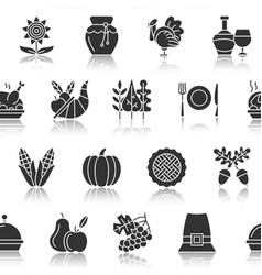 thanksgiving day silhouette seamless pattern vector image