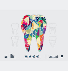 the dental icons vector image