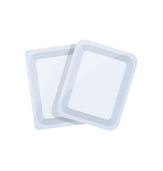 top view black empty food tray flat icon vector image