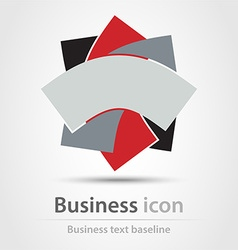 Tricolor business icon vector
