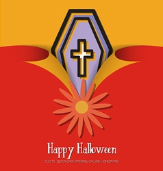 With halloween and coffin vector