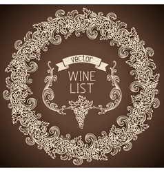 Retro wine list design vector image
