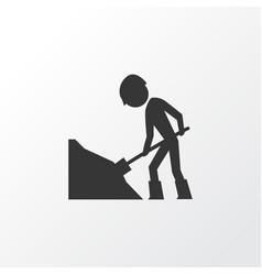 road work icon symbol premium quality isolated vector image